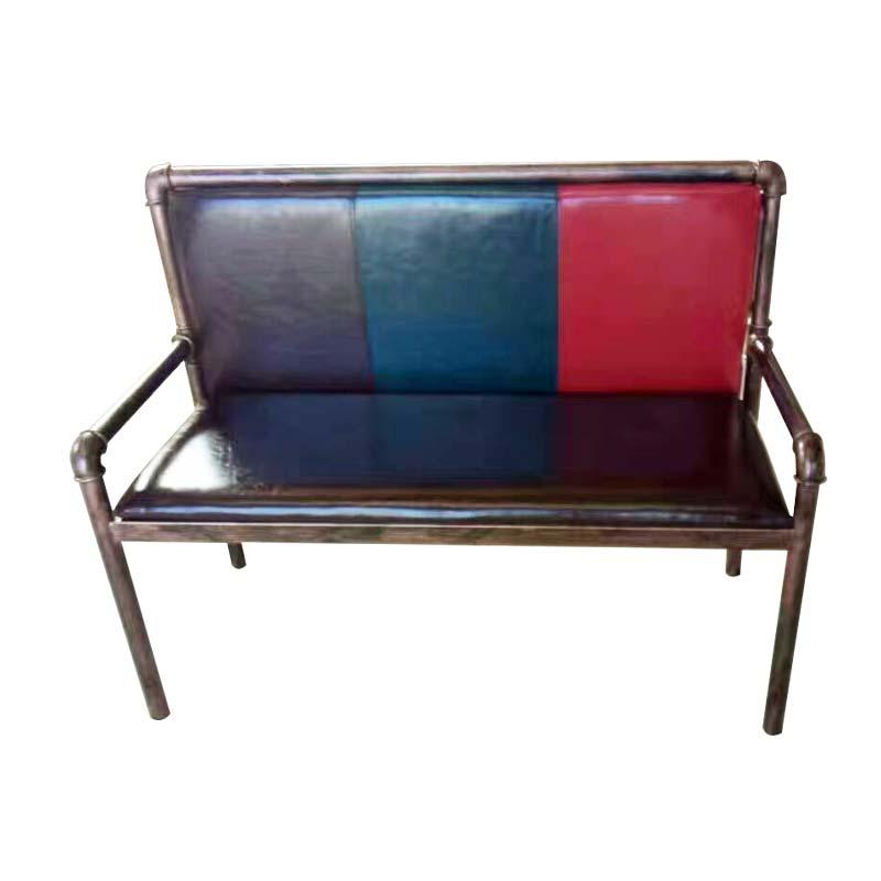 烧烤桌椅 食之秀软包铁管长椅复古烧烤桌椅