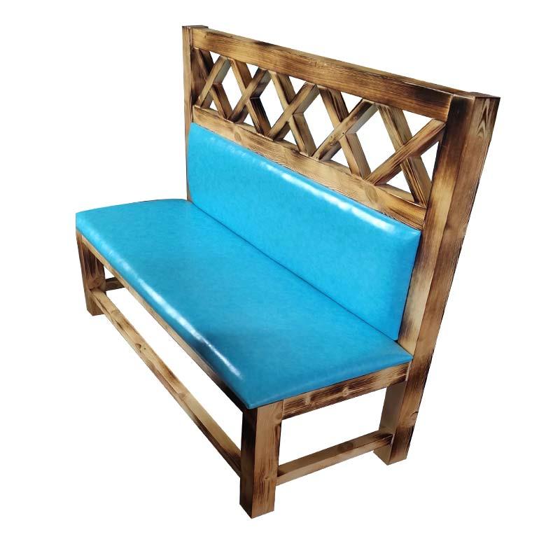 食之秀实木软包长椅 烧烤餐椅 烧烤店桌椅定做批发