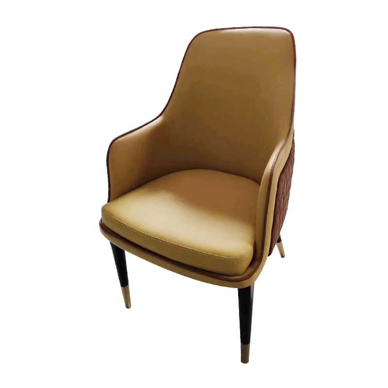 食之秀北欧风软包单椅 后现代轻奢餐椅定做加工