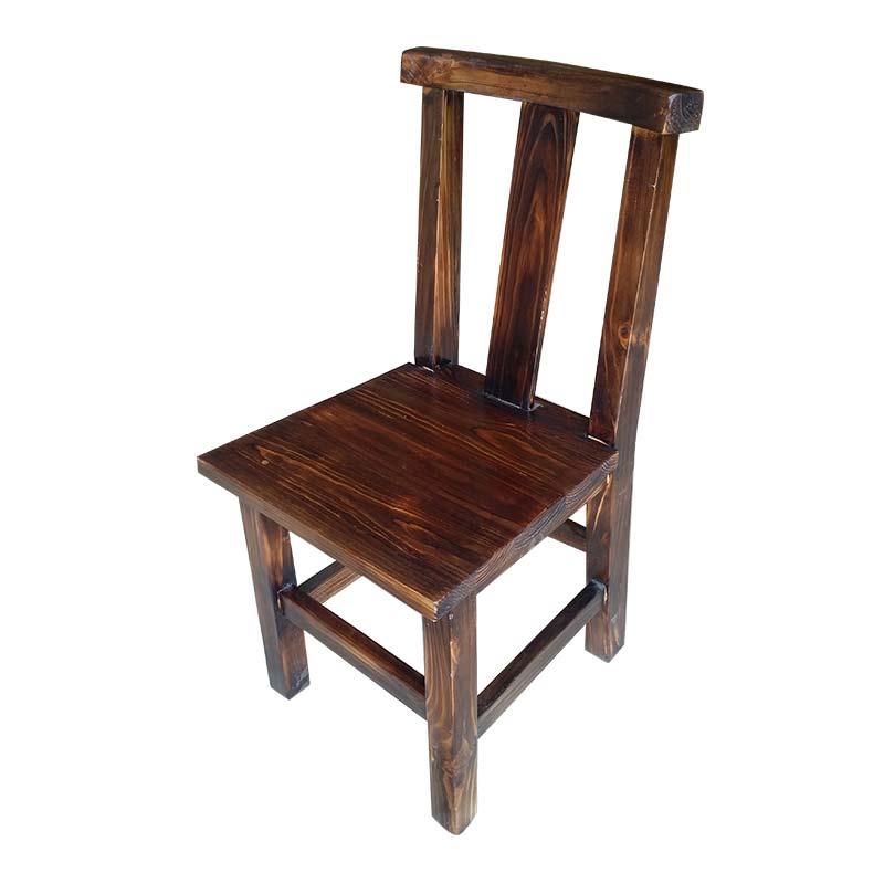 食之秀碳化木单椅,烧烤店桌椅批发,烧烤店桌椅定做加工