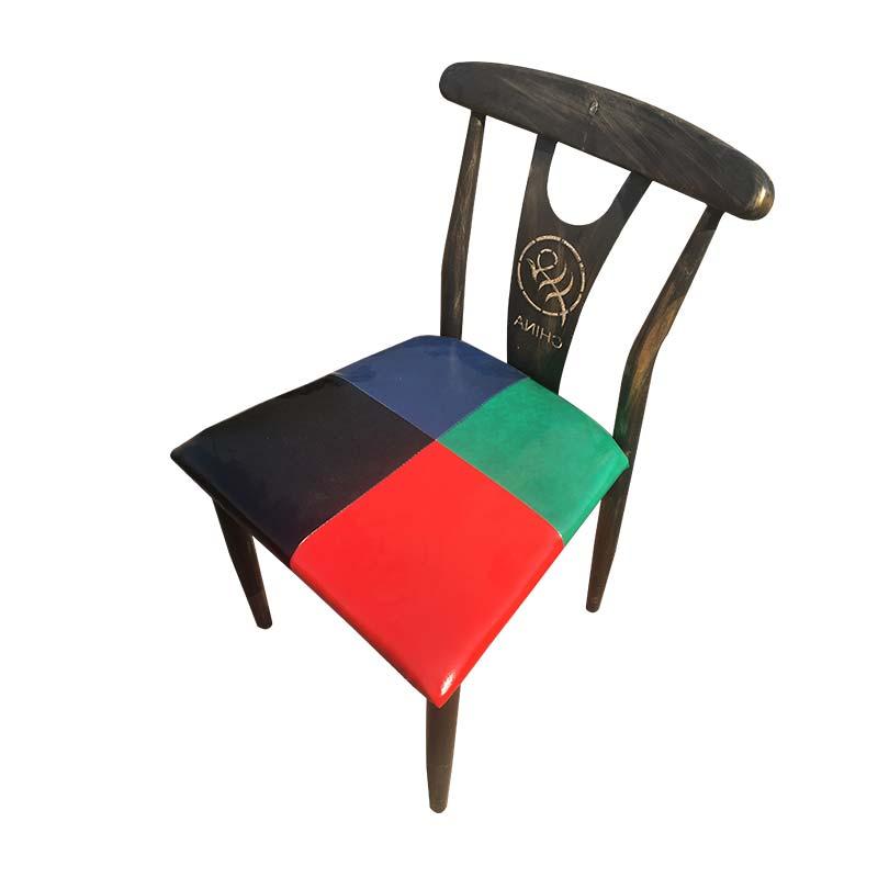 食之秀铁艺靠背单椅 烧烤店专用桌椅定做批发