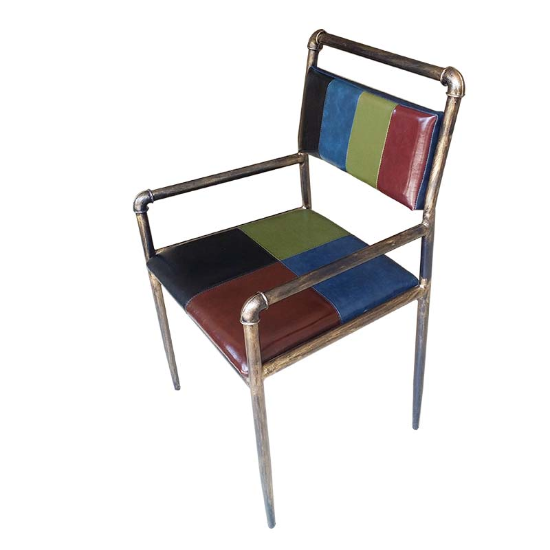 食之秀复古铁艺扶手椅 可定做多种尺寸 烧烤店专用桌椅定做加工