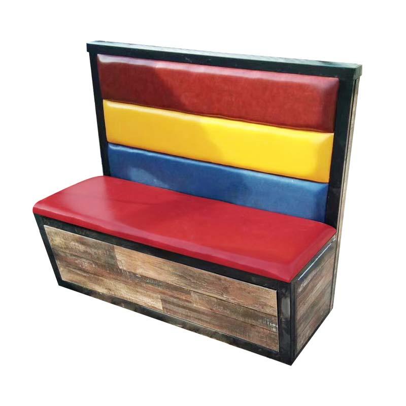 食之秀七彩云南软包卡座 烧烤桌椅定做加工 烧烤店创意软包卡座批发
