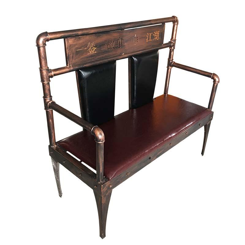 食之秀铁艺烧烤长椅,串越时光专业烧烤桌椅定做加工