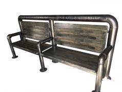 食之秀做旧仿铜管椅子 后工业时代风管椅 烧烤店桌椅批发定做