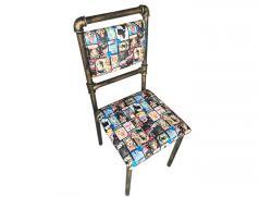 食之秀花少爷铁艺单椅 烧烤店自助烤吧专用座椅