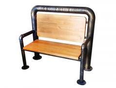 烧烤店专用仿铜管椅 食之秀仿铜管椅 烧烤店桌椅定做加工