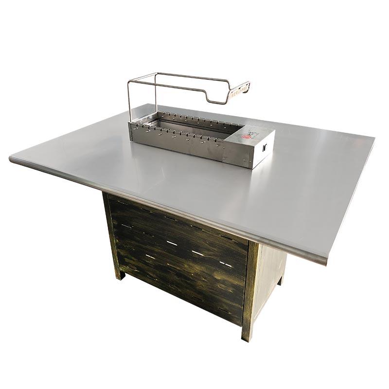 自助式烧烤店商用烧烤桌
