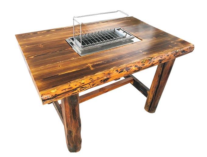 烧烤店实木烧烤桌椅定做加工 烧烤店烧烤桌椅批发 实木烧烤桌椅批发