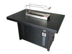 烧烤店商用烧烤桌椅定做加工 食之秀黑金烤漆烧烤桌