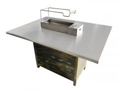 自助式烧烤店商用烧烤桌|食之秀不锈钢烧烤桌椅批发
