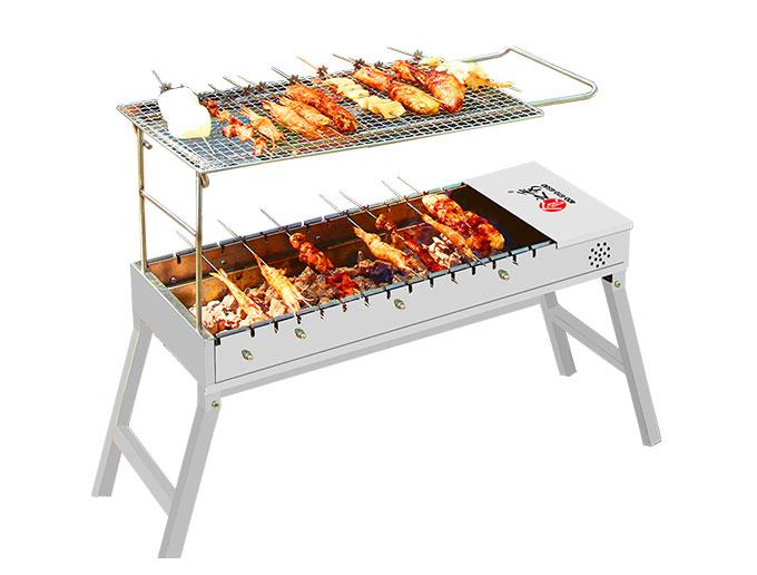 食之秀全自动翻转木炭烧烤炉,木炭烤串炉子