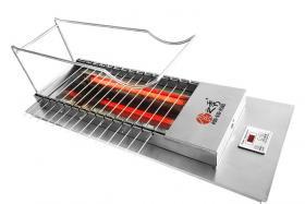 自动烧烤炉烤制香辣鸡脆骨,好吃到停不下来